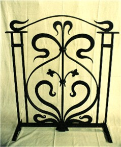 Hand forged wrought iron railing in Wuerselen Germany by Nigel Tudor